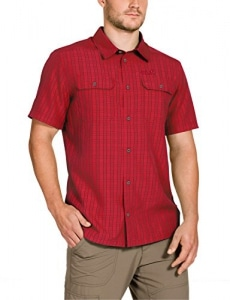 Jack Wolfskin Herren Hemd Thompson Shirt Men, Red Fire Checks, XL, 1401041-7849005 - 1